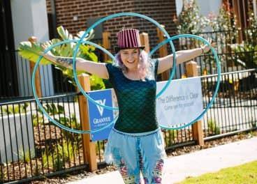 fairy with hula hoops