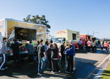 people at food truck in merrifield